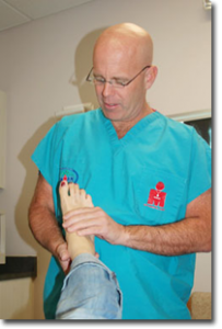 Dave Condon specializes in foot health and care